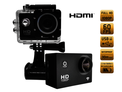 Action camera alcapower evo hd 60fps 1080p full hd